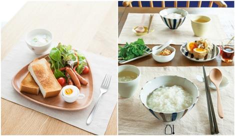 サムネイル 栗原はるみさんがプロデュースする生活雑貨ブランド「share with Kurihara harumi」より発売された、朝食に最適な和と洋の食器