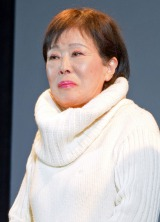 映画『ホテルコパン』の初日舞台あいさつに出席した李麗仙 (C)ORICON NewS inc.