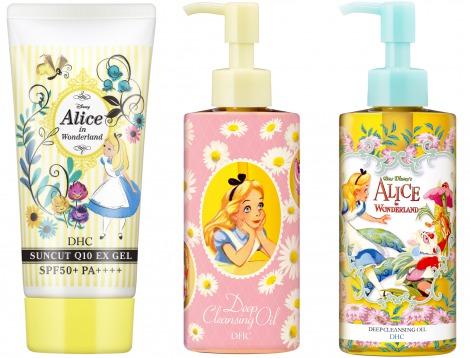 """サムネイル アリスデザインのキュートなスキンケアアイテム (c) Disney. From the Disney animation """"Alice in Wonderland"""""""