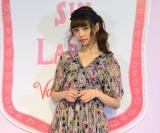ANNA SUI×LARMEのバレンタインイベントに登場した中村里砂 (C)oricon ME inc.