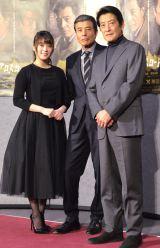 (左から)北乃きい、舘ひろし、神田正輝 (C)ORICON NewS inc.