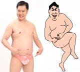 「しんちゃんに親近感が沸いていた」と語る安村と劇中の本人画。劇中では「穿いている自信はありません!」(C)臼井儀人/双葉社・シンエイ・テレビ朝日・ADK 2016