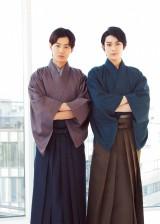 『ViVi』4月号で和装姿を披露した(左から)野村周平、真剣佑