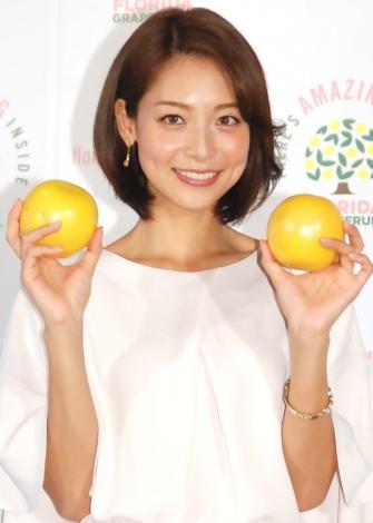 結婚は「ちょっと先ですかね」と語った相武紗季=『Amazing Florida Grapefruit Cafe』オープン記者発表会 (C)ORICON NewS inc.