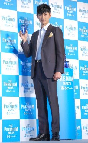 『ザ・プレミアム・モルツ』戦略説明会および『ザ・プレミアム・モルツ<香るエール>』発売イベントに出席した松田翔太 (C)ORICON NewS inc.