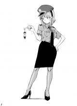 【sample】枝垂ほたるの扉絵複製原画