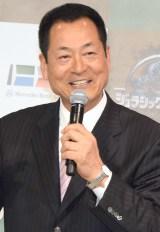 映画『ジュラシック・ワールド』ブルーレイ&DVDリリース記念イベントに登場した中畑清氏 (C)ORICON NewS inc.