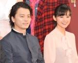音楽劇『最高はひとつじゃない 2016 SAKURA』の制作発表会見に出席した(左から)KREVA、小西真奈美 (C)ORICON NewS inc.