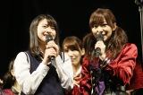 4・13発売の新曲で初選抜入りのHKT48松岡はな(左)と指原莉乃(C)AKS