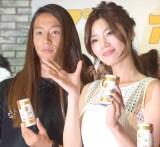 アツアツっぷりを見せつけたテラハカップルの(左から)伊東大輝、島袋聖南 (C)ORICON NewS inc.