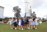 ラフな服装で…宇宙センター見学