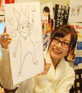 「お助けゲスト」として登場したGEMの金澤有希が描く「自由の女神」 (C)ORICON NewS inc.