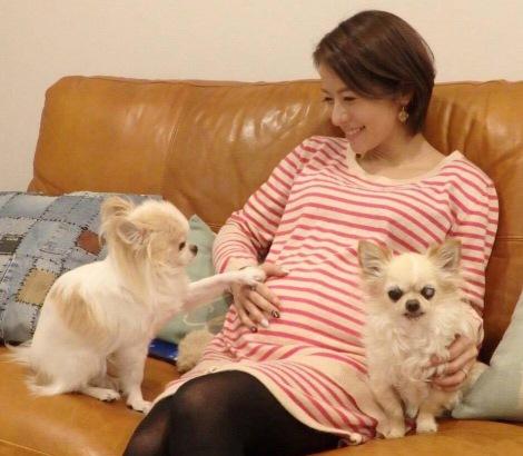 サムネイル 第1子妊娠を発表した神戸蘭子(写真はブログより)