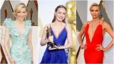 第88回アカデミー賞に登場した(左から)ケイト・ブランシェット、ブリー・ラーソン、シャーリーズ・セロン
