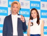 『ミンティア』20周年記念イベントに出席した(左から)綾野剛、北川景子 (C)ORICON NewS inc.