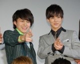 BOYS AND MENの(左から)小林豊、水野勝=『復讐したい』初日舞台あいさつ (C)ORICON NewS inc.