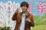 劇中に登場する「のいちごのケーキ」を頬張る岩田 (C)ORICON NewS inc.
