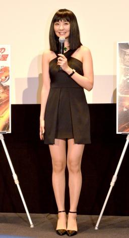 セクシーな黒の衣装で美脚を披露したおのののか=ブルーレイ&DVD『トランスポーター イグニッション』リリース記念特別イベント (C)ORICON NewS inc.