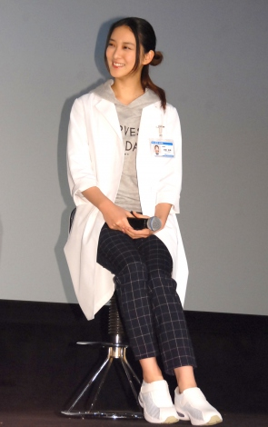 ドラマ『フラジャイル』第8話先行上映会後の舞台あいさつに出席した武井咲 (C)ORICON NewS inc.