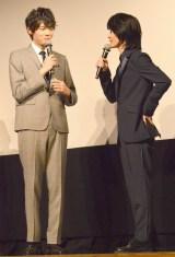 映画『太陽』完成披露試写会に出席した(左から)古川雄輝、神木隆之介 (C)ORICON NewS inc.