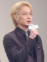 映画『64-ロクヨン-前編』完成披露試写会舞台あいさつに出席した綾野剛 (C)ORICON NewS inc.