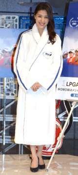 WOWOWの特別番組『LPGA女子ゴルフツアー観戦ナビ メジャー初戦スペシャル』公開収録に参加した橋本マナミ (C)ORICON NewS inc.
