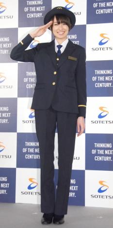 相鉄グループ『リニューアル車両&新制服』記者発表会に出席した南明奈 (C)ORICON NewS inc.