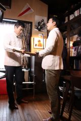 3月13日放送、テレビ朝日系『中山秀征の究極ハウス』 (C)KBC