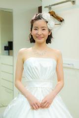蓮佛美沙子がウェディングドレス姿を披露=ドラマ最終話より (C)関西テレビ
