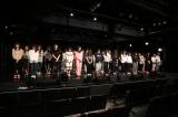 午後2時46分に黙祷を捧げるSKE48劇場のメンバー(C)AKS