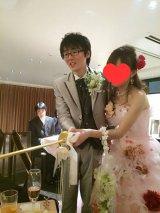 大阪市内で結婚式を行ったスーパーマラドーナの田中一彦