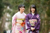 若手のホープ・小嶋真子を連れはんなり振り袖姿で京都案内(C)関西テレビ