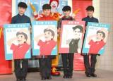 AKB48の(左から)佐藤七海、岡部麟、横山由依、行天優莉奈 =日本マクドナルド『クルーになろう。キャンペーン』発表会 (C)ORICON NewS inc.