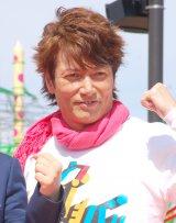 『グッジョバ!! オープン記念 初乗車ツアー』プレスお披露目イベントに出席したマイケル富岡 (C)ORICON NewS inc.