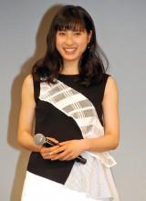 在学中の日本女子体育大学の体育館で舞台あいさつした土屋太鳳 (C)ORICON NewS inc.