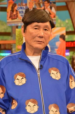 日本テレビ系バラエティ『世界まる見え!テレビ特捜部』収録後、取材に応じたビートたけし