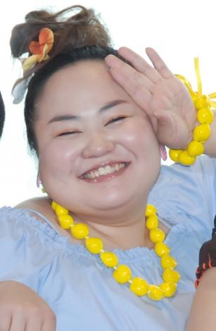 よしもと女芸人『ANA沖縄キャンペーンガール』発表会見に出席したおかずクラブ・ゆいP (C)ORICON NewS inc.