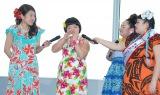 よしもと女芸人『ANA沖縄キャンペーンガール』発表会見に出席した(左から)横澤夏子、オカリナ、ゆいP、渡辺直美 (C)ORICON NewS inc.