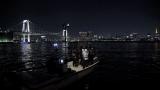 真夜中の東京湾で撮影(C)NHK