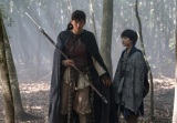 バルサ(綾瀬はるか)とチャグム(小林颯)(C)NHK