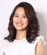 日本テレビ系朝の情報番組『Oha!4 NEWS LIVE』に出演する企画レポーターの宮本真智 (C)日本テレビ