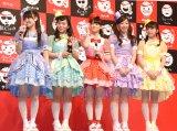 『コカ・コーラ スタンプボトル発売記念イベント』に登場したチームしゃちほこ (C)ORICON NewS inc.