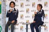 4月5日より放映される「アサヒ もぎたて」新テレビCMで共演する大泉洋&吉田鋼太郎