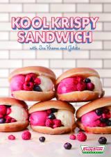 クリスピー・クリーム・ドーナツ初のアイスサンドイッチ『クール クリスピー サンド』が新登場