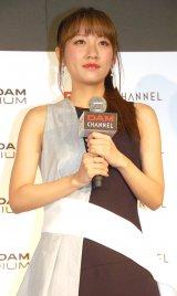 『DAM CHANNEL リニューアル記念 第13第MC就任式』に出席したAKB48・高橋みなみ (C)ORICON NewS inc.