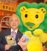 『ライオンのごきげんよう』MCの小堺一機とライオンくん(写真=2011年2月撮影) (C)ORICON NewS inc.