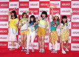 『ラウンドワン 新CM発表会』に登場した平均年齢16歳の女子中高生6人組ボーカルグループ・Little Glee Monster (C)oricon ME inc.
