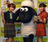 (左から)AKB48・入山杏奈、ひつじのショーン、NGT48・北原里英 (C)ORICON NewS inc.