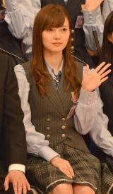 『NOGIBINGO!6』収録後囲み取材に出席した乃木坂46の白石麻衣 (C)ORICON NewS inc.