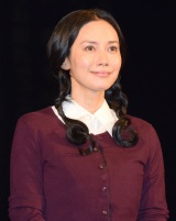 舞台『猟銃』初日前会見に出席した中谷美紀 (C)ORICON NewS inc.